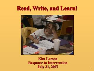 Read, Write, and Learn!