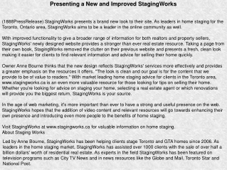 Presenting a New and Improved StagingWorks