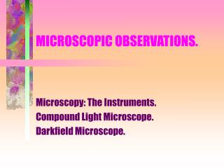 MICROSCOPIC OBSERVATIONS.