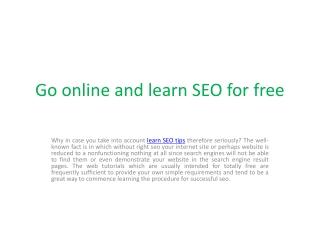 Learn SEO tips