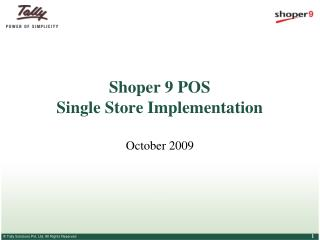 Shoper 9 POS Single Store Implementation
