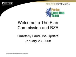 Welcome to The Plan Commission and BZA