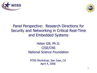 Panel Perspective:  Research Directions for Security and Networking in Critical Real-Time and Embedded Systems
