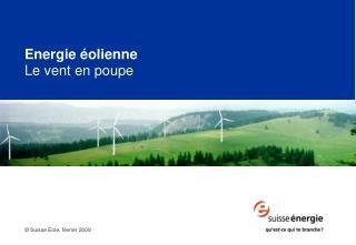 Energie éolienne Le vent en poupe