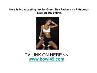 NFL Super Bowl XLV 2011 AFC vs NFC Live On 6th February 2011