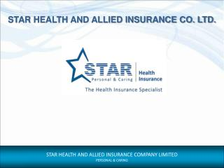 PowerPoint Presentation - Star Health Insurance