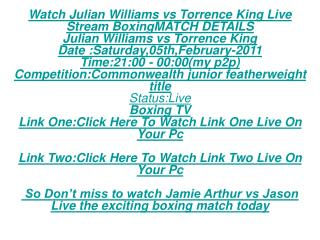 LiVe!!Free!!Jamie Arthur vs Jason Booth FREE LIVE STREAM BOX