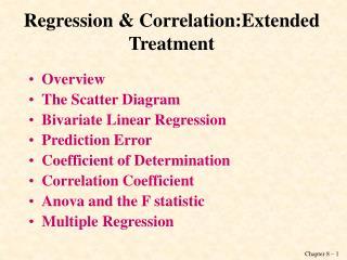 Regression & Correlation:Extended Treatment