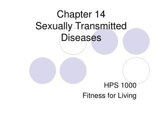 Chapter 14 Sexually Transmitted Diseases