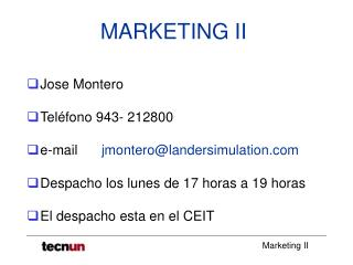 MARKETING II