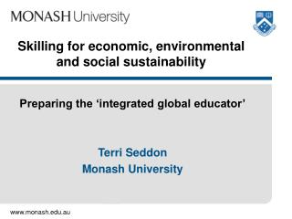Skilling for economic, environmental and social sustainability