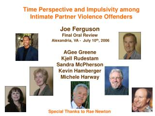 Time Perspective and Impulsivity among Intimate Partner Violence Offenders