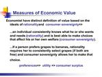 Measures of Economic Value