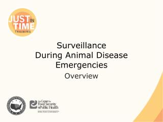 Surveillance During Animal Disease Emergencies
