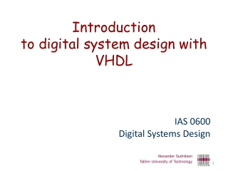VHDL for Synthesis