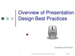 Overview of Presentation Design Best Practices