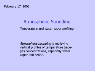Atmospheric Sounding