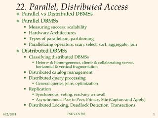 22. Parallel, Distributed Access