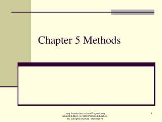 Chapter 5 Methods