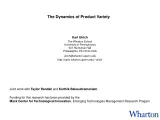 The Dynamics of Product Variety