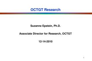 OCTGT Research