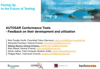 AUTOSAR Conformance Tests  - Feedback on their development and utilization