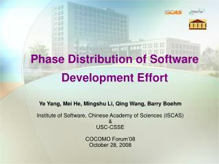 Phase Distribution of Software Development Effort