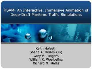 HSAM: An Interactive, Immersive Animation of Deep-Draft Maritime Traffic Simulations