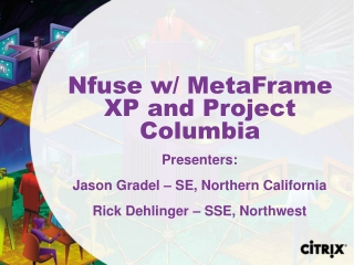 Nfuse w/ MetaFrame XP and Project Columbia