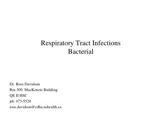 Respiratory Tract Infections Bacterial