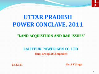 UTTAR PRADESH  POWER CONCLAVE, 2011