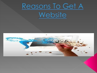 Reasons To Get A Website