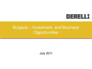 Bulgaria – Investment  and Business Opportunities