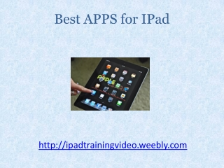 Best Apps For IPad