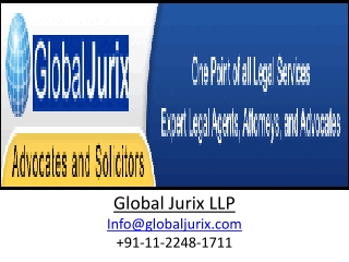 Global Jurix Comes With Leatest IPR & Company Law Services