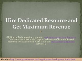 Hire Dedicated Resource and Get Maximum Revenue