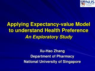 Applying Expectancy-value Model to understand Health Preference An Exploratory Study