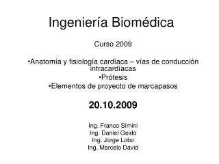 Ingeniería Biomédica