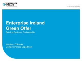 Enterprise Ireland Green Offer Building Business Sustainability Kathleen O'Rourke