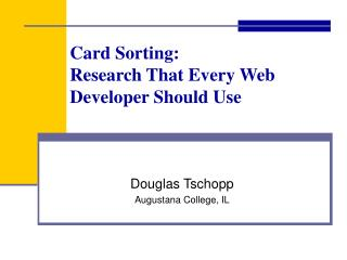 Card Sorting: Research That Every Web Developer Should Use