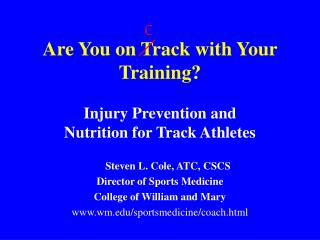 Are You on Track with Your Training?