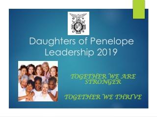 Daughters of Penelope Leadership 2019