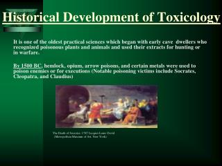 Historical Development of Toxicology