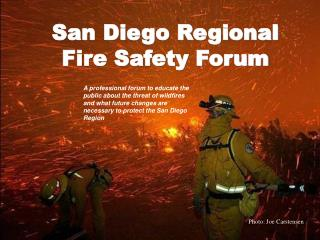 San Diego Regional  Fire Safety Forum