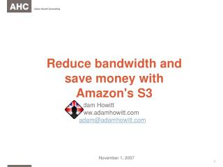 Reduce bandwidth and save money with Amazon's S3