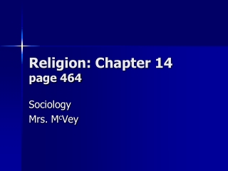 Religion and Social cohesion