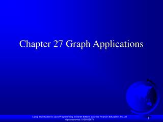 Chapter 27 Graph Applications