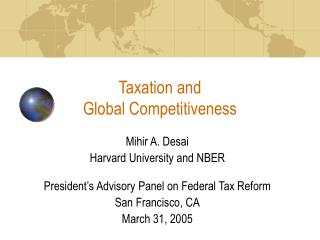 Taxation and  Global Competitiveness