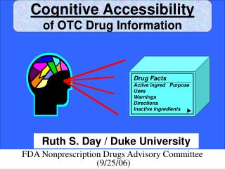 Cognitive Accessibility of OTC Drug Information