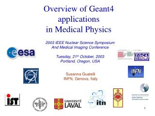 Overview of Geant4 applications in Medical Physics
